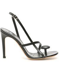 Coperni Open Toe Oval Sandals 36 Leather - Black