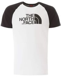 The North Face T-SHIRT BICOLORE STAMPA LOGO - Bianco
