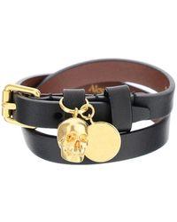 Alexander McQueen Skull Double-wrap Bracelet - Multicolor
