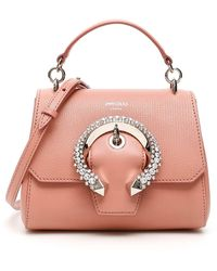 Jimmy Choo Small Leather Madeline Top Handle Bag - Pink