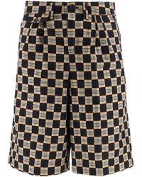 Burberry Checkered Bermuda Shorts - Multicolor