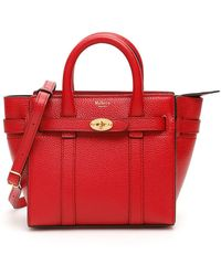 Mulberry Micro Zipped Bayswater Bag - Red