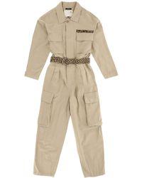 R13 Abu Cotton Jumpsuit - Natural