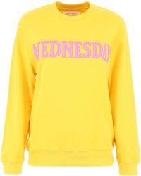 Alberta Ferretti Wednesday Patch Sweatshirt - Yellow