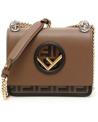Fendi Small Kan I F Bag - Brown