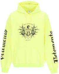 Vetements Black Label Print Hoodie - Yellow