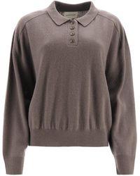 Loulou Studio Cashmere Polo Shirt M Cashmere - Multicolour