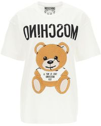 Moschino T-SHIRT OVERSIZE INSIDE OUT TEDDY BEAR - Bianco