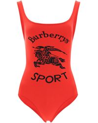 Burberry Printed Swimsuit - Red