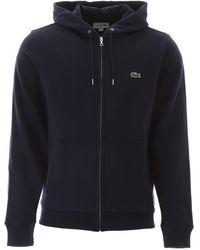Lacoste Zip-up Hooded Sweatshirt - Blue