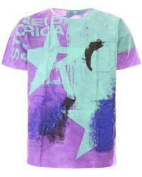 Raf Simons Handpainted Hospital T-shirt Os - Purple