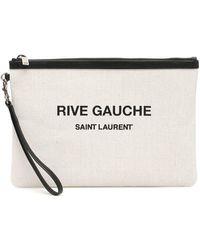 Saint Laurent Rive Gauche Print Clutch - Multicolour