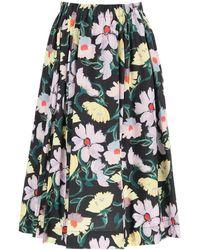 Marni - Floral Print Midi Skirt - Lyst