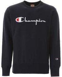 Champion Logo Hoodie - Blue
