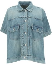 Sacai - CAMICIA OVER IN DENIM - Lyst