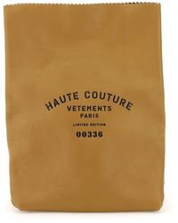 Vetements Leather Paper Bag - Natural