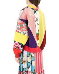 Dolce & Gabbana Patchwork Sweatshirt Dg Embroidery 38 Cotton - Multicolour