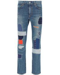 Junya Watanabe Levi's Patchwork Jeans S Cotton,denim - Blue