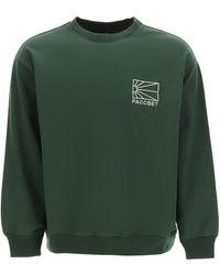 Rassvet (PACCBET) Sweatshirt With Logo Embroidery S Cotton - Green