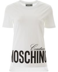Moschino T-SHIRT COUTURE - Bianco