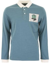 Kent & Curwen Polo Shirt With Rose Patch - Green