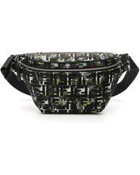 Fendi Ff Camouflage Beltpack - Black