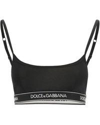 Dolce & Gabbana BRASSIERE CON BANDA LOGO - Nero