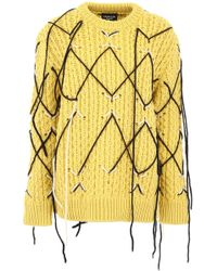 CALVIN KLEIN 205W39NYC Honeycomb Pullover - Yellow