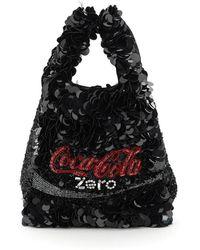Anya Hindmarch - Anya Brands Mini Sequined Tote Coke Zero - Lyst