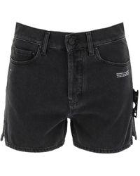 Off-White c/o Virgil Abloh Denim Shorts - Black