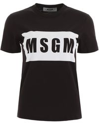 MSGM T-Shirt Logo Box - Nero