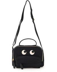 Anya Hindmarch Nylon Crossbody Bag Eyes - Black