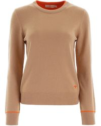 Tory Burch Cashmere Knit With Piping - Multicolour