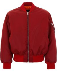 CALVIN KLEIN 205W39NYC Padded Bomber Jacket - Red