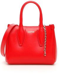 Lanvin Le Journée Micro Bag - Red