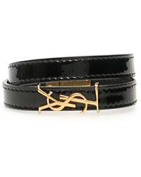 Saint Laurent Patent Opyum Bracelet - Black