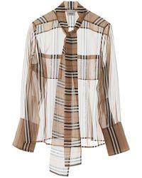 Burberry Amelie Shirt - Natural