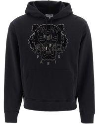 KENZO Hooded Sweatshirt Tiger - Black