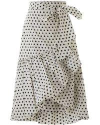 Pinko Uniqueness LEGGIADRA Midi Skirt - Black