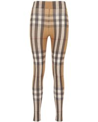 Burberry LEGGINGS CON STAMPA CHECK - Multicolore