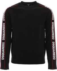 DSquared² Pullover With Logo Bands - Black