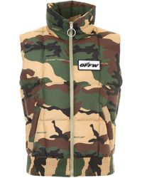 Off-White c/o Virgil Abloh Camouflage Vest - Green