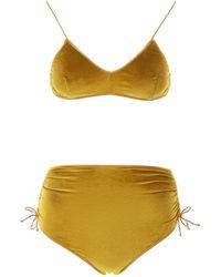 Oséree High-waisted Bikini - Yellow