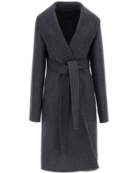 Givenchy Reversible Wool Coat - Black