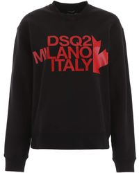 DSquared² Logo Print Sweatshirt - Black
