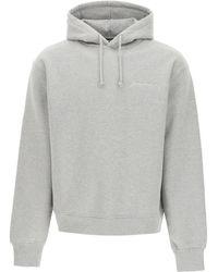 Jacquemus Logo Sweatshirt Xl Cotton - Grey