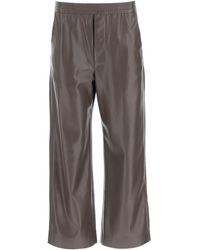 Nanushka Odessa Vegan Leather Pants - Brown