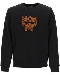 MCM Crewneck Sweatshirt With Logo S Cotton - Black