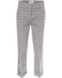 Essentiel Cropped Check Pants - Multicolor