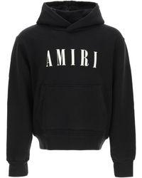 Amiri Logo Embroidery Hoodie M Cotton - Black